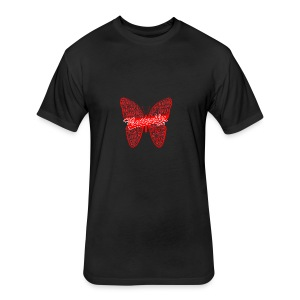 BUTTERFLY WORD RED - Fitted Cotton/Poly T-Shirt by Next Level