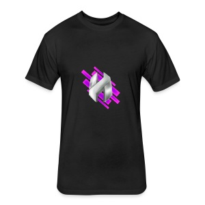 Abstract Purple - Fitted Cotton/Poly T-Shirt by Next Level