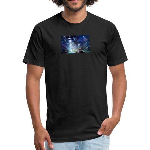 Abduction - Fitted Cotton/Poly T-Shirt by Next Level