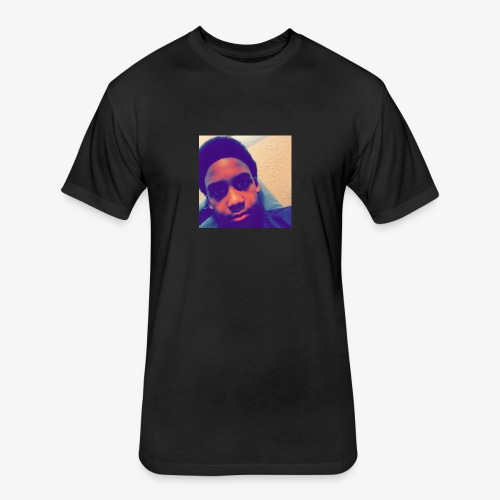 face picture - Fitted Cotton/Poly T-Shirt by Next Level