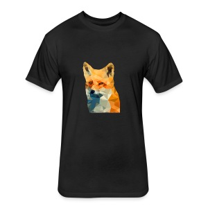 Jonk - Fox - Fitted Cotton/Poly T-Shirt by Next Level