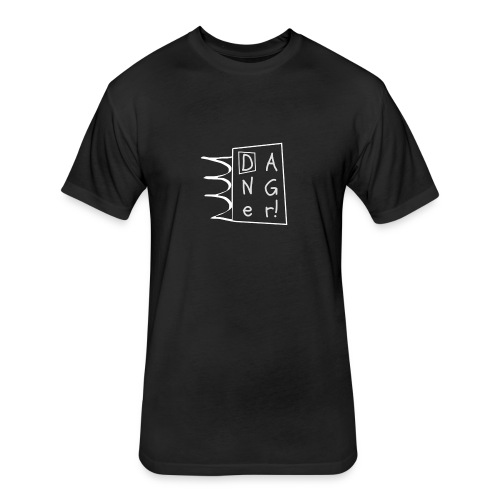 Black Danger tee - Fitted Cotton/Poly T-Shirt by Next Level
