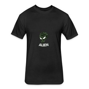 Military Alien - Fitted Cotton/Poly T-Shirt by Next Level