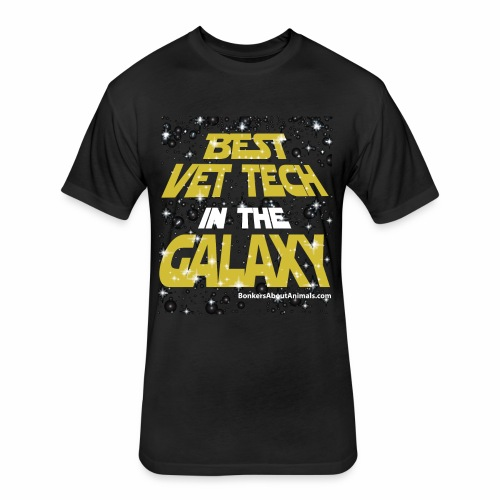 Best Vet Tech in the Galaxy - T-Shirt - Fitted Cotton/Poly T-Shirt by Next Level
