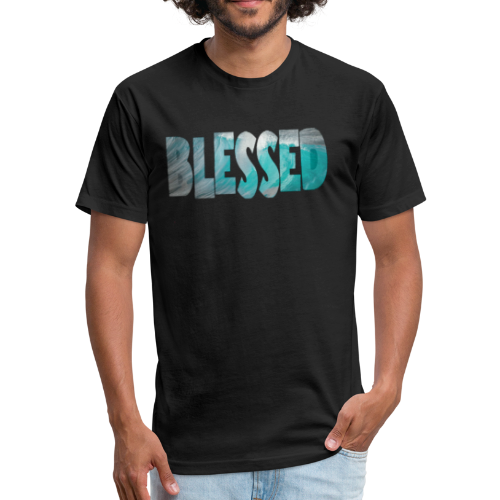 blessed - Fitted Cotton/Poly T-Shirt by Next Level