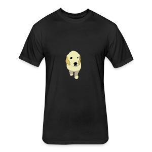 Golden Retriever puppy - Fitted Cotton/Poly T-Shirt by Next Level