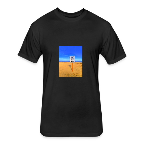 One Way - Fitted Cotton/Poly T-Shirt by Next Level