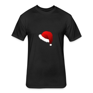 Carmaa Santa Hat Christmas Apparel - Fitted Cotton/Poly T-Shirt by Next Level