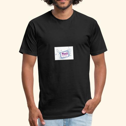 Nails art - Fitted Cotton/Poly T-Shirt by Next Level