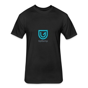 UpRamp Logo Blue Stacked ColorWhite - Fitted Cotton/Poly T-Shirt by Next Level