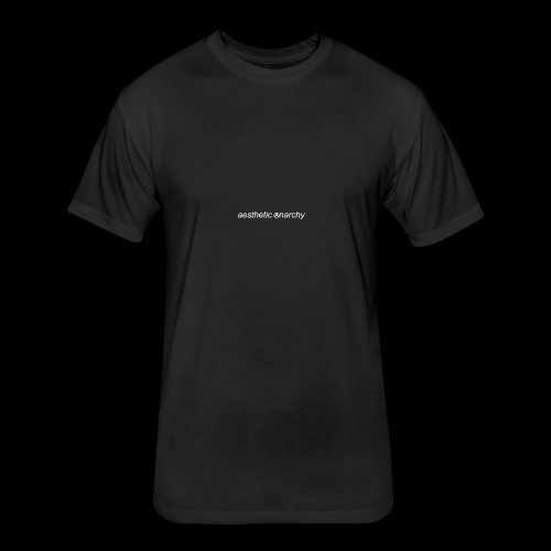 'Black' Aesthetic Anarchy - Fitted Cotton/Poly T-Shirt by Next Level