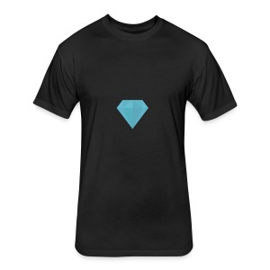 long sleeve Diamond shirt - Fitted Cotton/Poly T-Shirt by Next Level