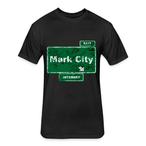 Mark City - Fitted Cotton/Poly T-Shirt by Next Level