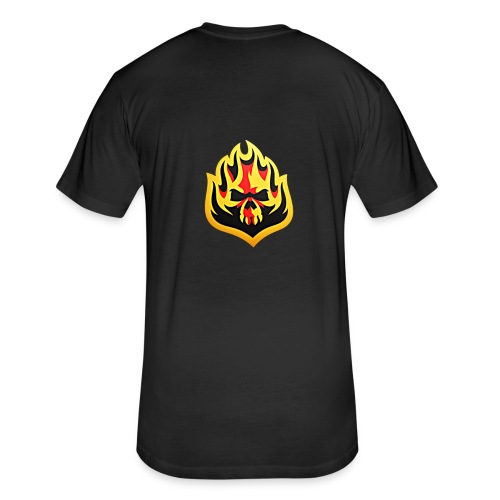 ListenTunes Fire Skull - Fitted Cotton/Poly T-Shirt by Next Level