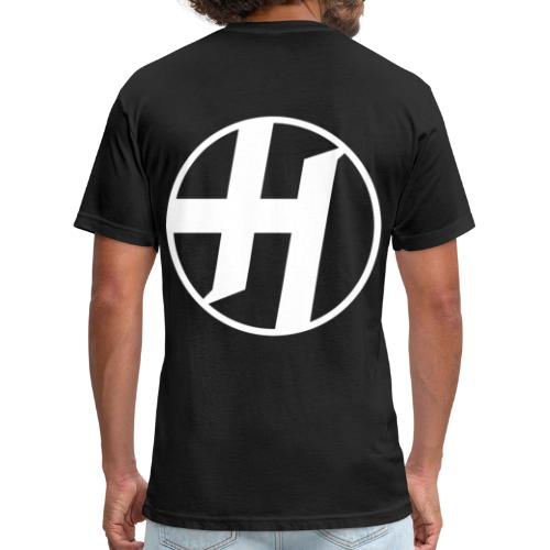 Heirs Logo White Big - Fitted Cotton/Poly T-Shirt by Next Level