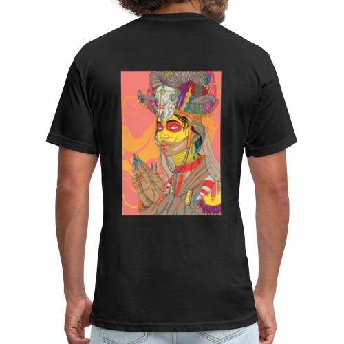 tribal bride - Fitted Cotton/Poly T-Shirt by Next Level