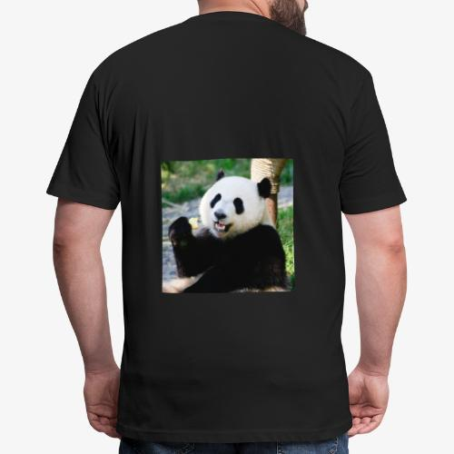 Panda Bear - Fitted Cotton/Poly T-Shirt by Next Level
