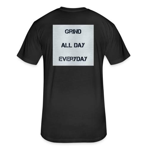 Grind - Fitted Cotton/Poly T-Shirt by Next Level