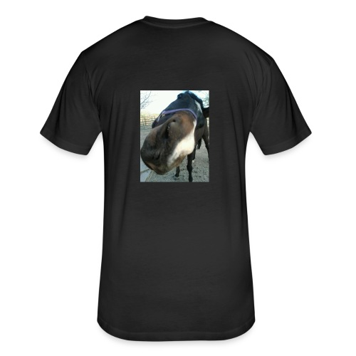 give mea kisss - Fitted Cotton/Poly T-Shirt by Next Level