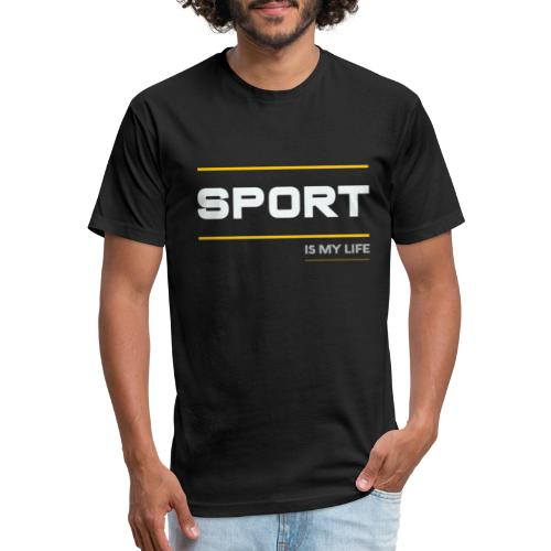 TShirt That Says Sports - Sports TShirt - Fitted Cotton/Poly T-Shirt by Next Level