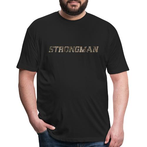 strongman front - Fitted Cotton/Poly T-Shirt by Next Level
