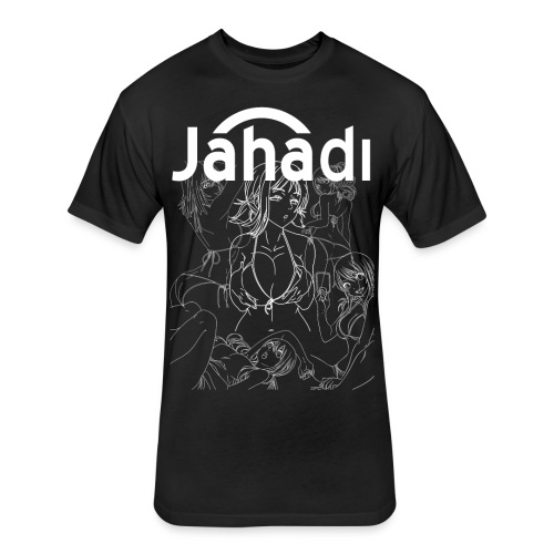 HADIBITCHESWHITE - Fitted Cotton/Poly T-Shirt by Next Level