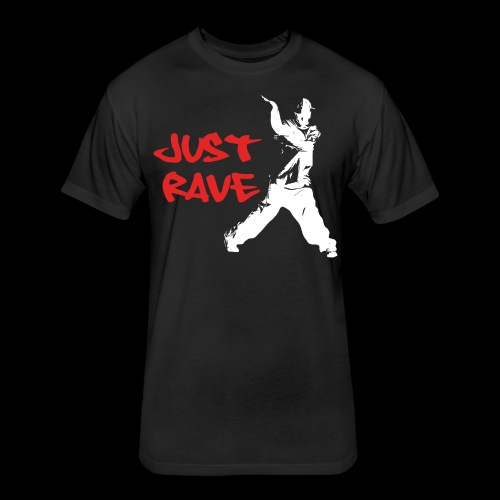 Just Rave! - Fitted Cotton/Poly T-Shirt by Next Level