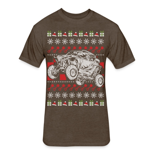 UTV Racing Christmas - Fitted Cotton/Poly T-Shirt by Next Level