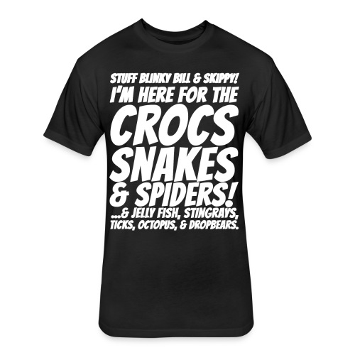 Crocks snakes and spiders shirt - Fitted Cotton/Poly T-Shirt by Next Level