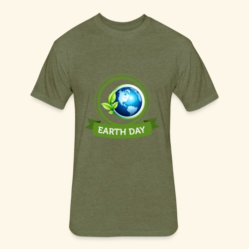 Happy Earth day - 3 - Fitted Cotton/Poly T-Shirt by Next Level