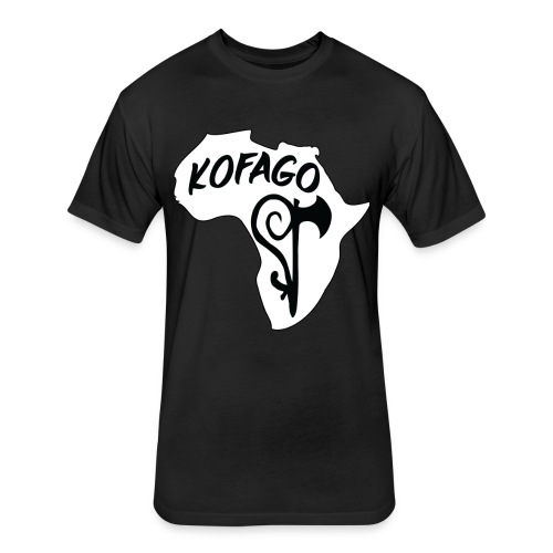 Kofago Logo Inverted - Fitted Cotton/Poly T-Shirt by Next Level