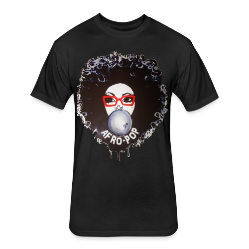 Afro pop_ - Fitted Cotton/Poly T-Shirt by Next Level