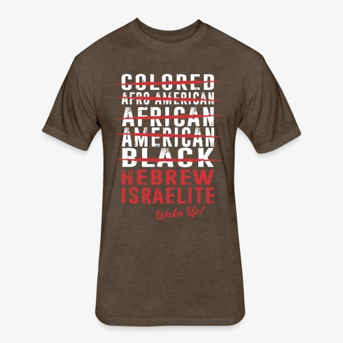 Hebrew Israelite - Fitted Cotton/Poly T-Shirt by Next Level