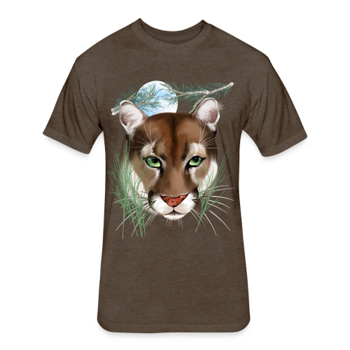 Midnight Puma - Fitted Cotton/Poly T-Shirt by Next Level