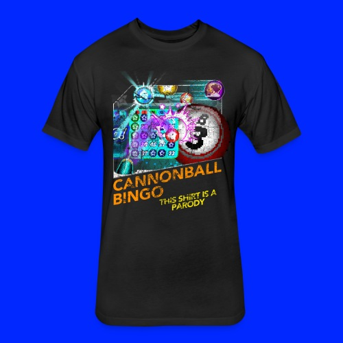 Vintage Cannonball Bingo Box Art Tee - Fitted Cotton/Poly T-Shirt by Next Level