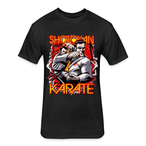 Shotokan Karate - Fitted Cotton/Poly T-Shirt by Next Level