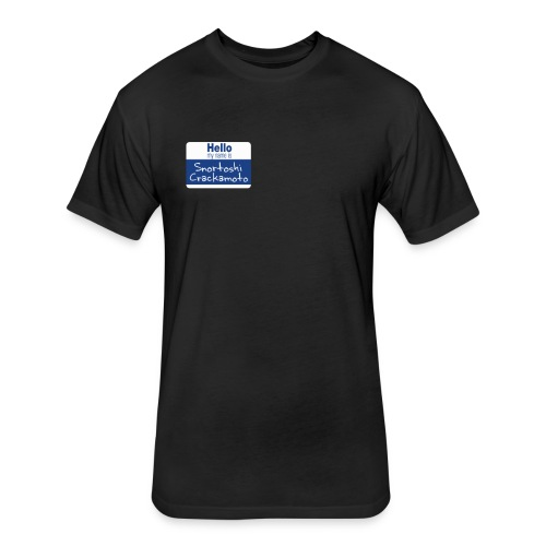 Snortoshi Crakamoto Name Tag Bitcoin Creator - Fitted Cotton/Poly T-Shirt by Next Level