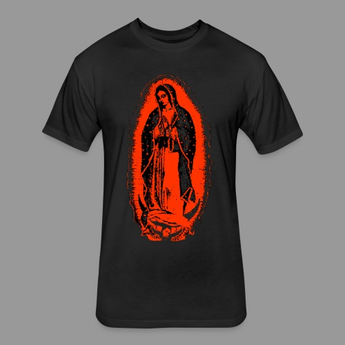 Mary's Glow - Fitted Cotton/Poly T-Shirt by Next Level