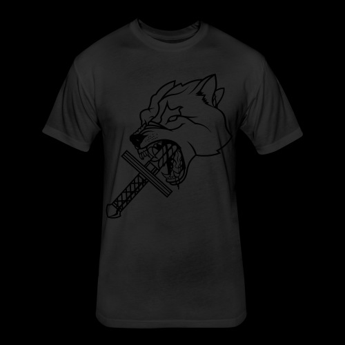 Heretic Hoard Wolf - Fitted Cotton/Poly T-Shirt by Next Level