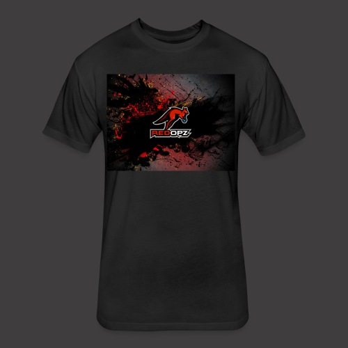 RedOpz Splatter - Fitted Cotton/Poly T-Shirt by Next Level