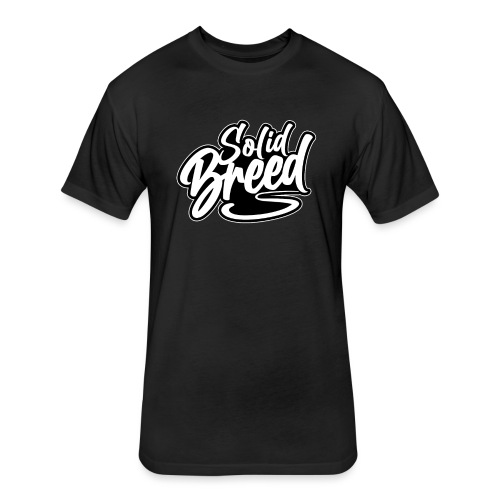 Solid Breed Contemporary Black Logo - Fitted Cotton/Poly T-Shirt by Next Level