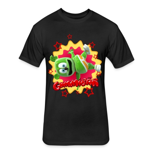 Gummibär Starburst - Fitted Cotton/Poly T-Shirt by Next Level