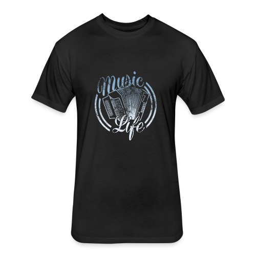 MusicLife1 - Fitted Cotton/Poly T-Shirt by Next Level