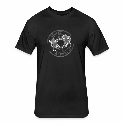 Atheist Republic Logo - Starred Stamp - Fitted Cotton/Poly T-Shirt by Next Level
