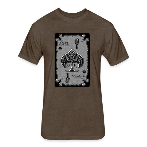 Axelofabyss Spade Card - Fitted Cotton/Poly T-Shirt by Next Level