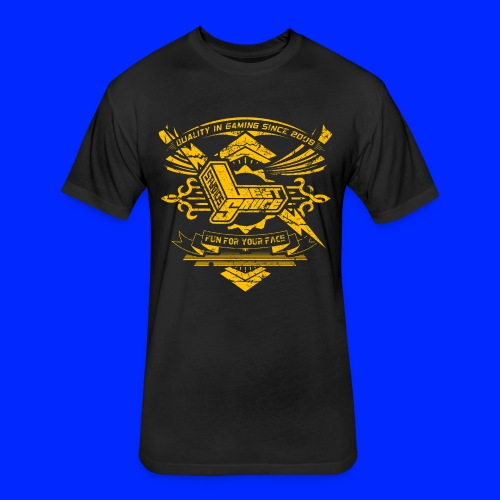 Vintage Leet Sauce Studios Crest Gold - Fitted Cotton/Poly T-Shirt by Next Level