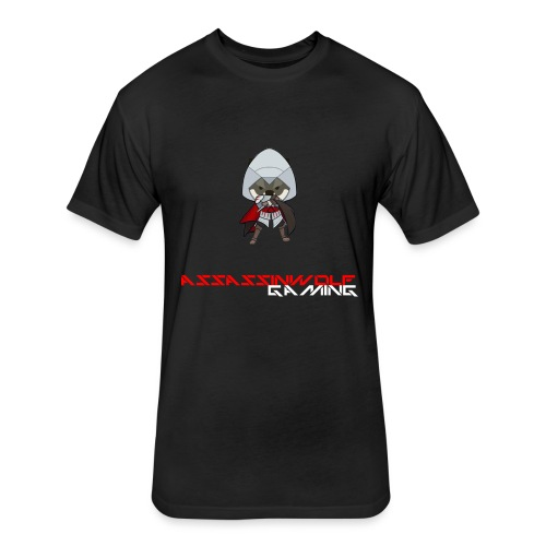 heather gray assassinwolf Tee - Fitted Cotton/Poly T-Shirt by Next Level