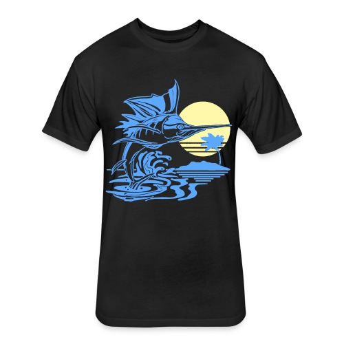 Sailfish - Fitted Cotton/Poly T-Shirt by Next Level