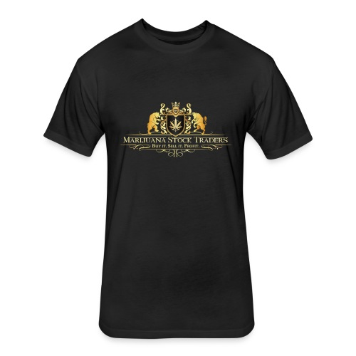 Original MST Marijuana Stock Traders Logo - Fitted Cotton/Poly T-Shirt by Next Level