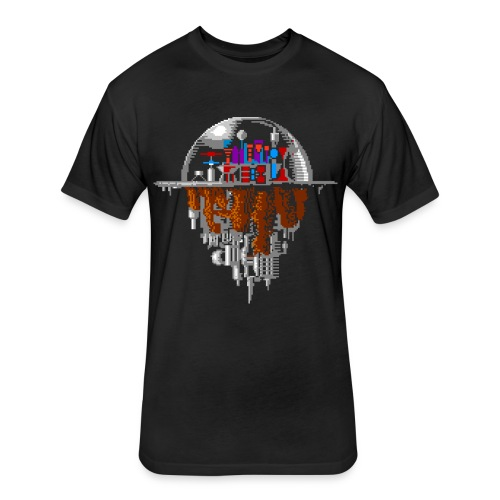 Sky city - Fitted Cotton/Poly T-Shirt by Next Level